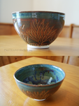 Bronze Tree Themed Ceramic Bowl by ashynekosan