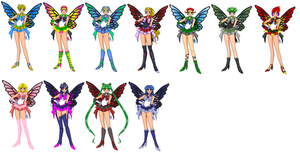 Fairy Senshi Group2 by LavenderSeaFairy