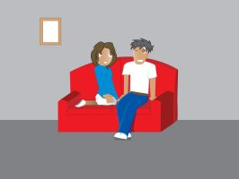 Couple on the Couch by beezer
