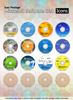 Microsoft Software Disk Icons by MTB-DAB