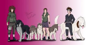 Inuzuka family by fiffiluren
