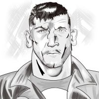 Frank Castle - The Punisher (Warm up/sketch) by ProjectCornDog
