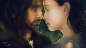 Fan-art Friday: Aragorn and Arwen by Kaizoku-hime