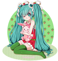 Strawberry Miku by sTiViA