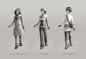 Steampunk Costume Concepts, 01 by ephemeratics