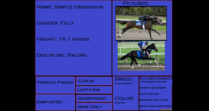 Simple Obsession pedigree by HonchoFreddy