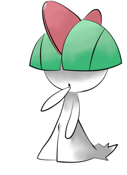 Ralts by wolfshadowxd