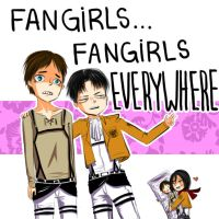 shingeki no kyojin's fangirls by thewizardbd