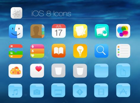 iOS 8 Icons by dtafalonso