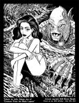 Julia Adams and the Black Lagoon in B and W by BryanBaugh