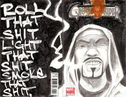 Sketch Cover - Johnny Blaze by s133pDEADart