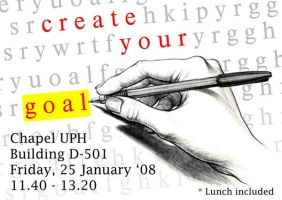 Create Your Goal by kn33cow