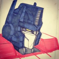 Optimus Prime doodle by beamer