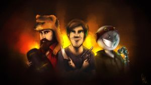 HDID VID - CinnamonToastKen,PewDiePie and Cryaotic by ScribbleNetty