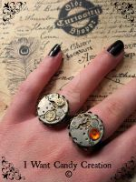 HANDMADE - Steampunk Ring by IWantCandyCreation