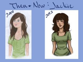 Then and Now - Jackie by jennifurball