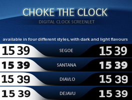 -Choke The Clock Screenlet- by liliumcruentus