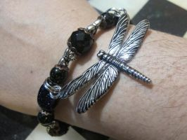 Silver Dragonflies Bracelet 2 by Windthin