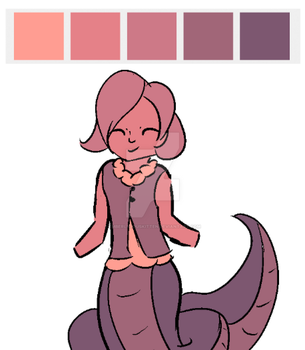 Niphine, but with a one-color pallet. by EmberliciousKitten