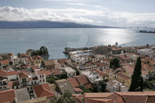 nafpaktos overview 1 by AndreasStavropoulos