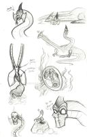 Neptai and Sydon Sketches by rchlisawesome