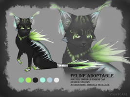Emerald Forest Cat Adoptable (CLOSED) by Yourtoast
