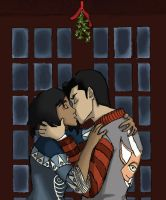 Mistletoe Kisses (Makorra Week Day 3: Kisses) by msmakorra