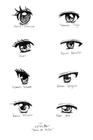 Shoujo Manga Couple Eyes P2 by Katantoon