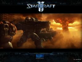 Starcraft2 Wallpaper by BlackW0rks