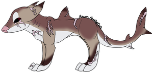 Shark dog adopt (closed) by RavenFeather-Adopts