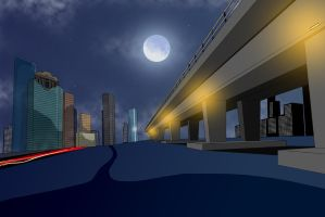 Vectorized Houston Night by crzisme