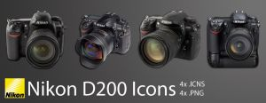 Nikon D200 Icons by photoartiste