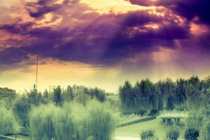 The sky clouds and landscape by sunny2011bj