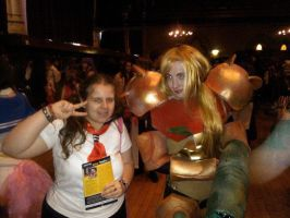 Me with Samus Aran cosplayer :D by OtakuRhi