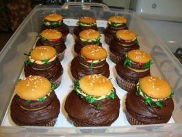 Cheeseburger Cupcakes by DMD-CT