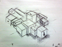 2nd Perceptual Drawing: Boxes by Pheelip2010
