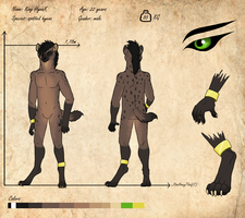 Commission - Reference sheet King HyenX by StanHoneyThief