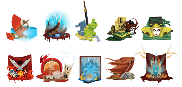 Avatar: the last airbender set by Lutessius