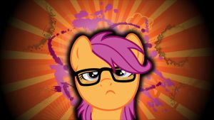 Hipster Scootaloo Wallpaper by Glitcher007