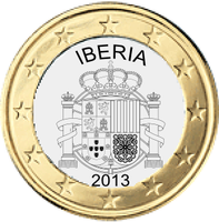 Iberian coin 1 euro (with Gibraltar) by hosmich
