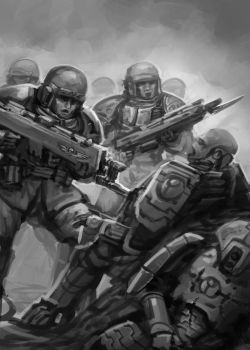 Sketch - Bayonet Charge by lnsan1ty