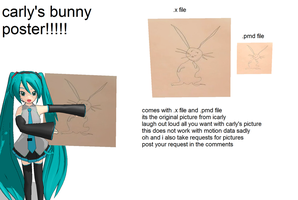 carly's bunny poster by monobuni