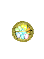 Easter basket with eggs png 2 by Irisustockimages