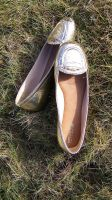 Jane's Gold Sperry Penny Loafers on Golden Stubble by peerlesspenny