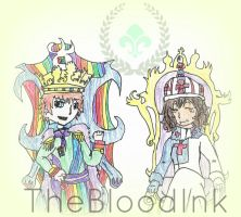 InnocentMaple and TheBloodInk by TheBloodInk