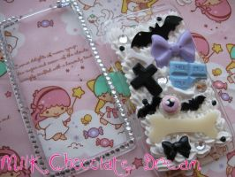 Creepy Cute/Spooky Kei Decoden Phone Case by Frainy