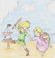 A l'abordage - color pencil - by Linkdezelda