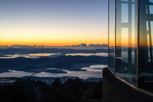 Sunrise from Mount Wellington by andrenid