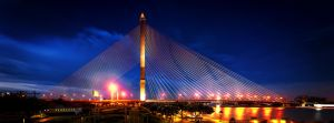 Panorama View of Rama VIII Bridge by palmbook
