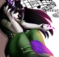 Listening to Music, Listening her Heart by WolfRoxy